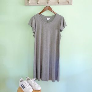 NWT Gap T-shirt dress with ruffle sleeves